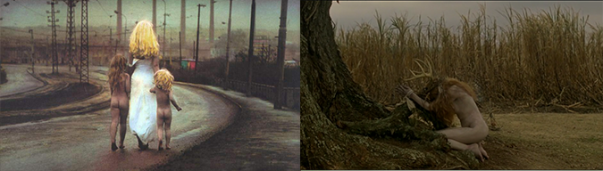 Barroquismo: Jan Saudek (izq), True Detective (der)