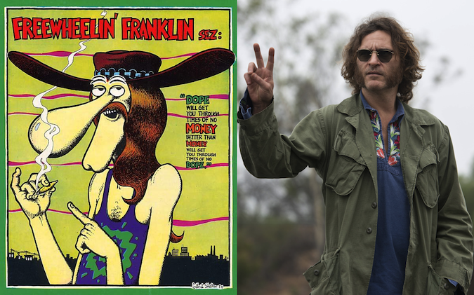 """Freewheelin Franklin"", personaje del comic Los Fabulous Furry Freak Brothers (Gilbert Shelton, 1968)"