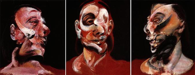 Tres estudios de Muriel Belcher (Francis Bacon, 1966)