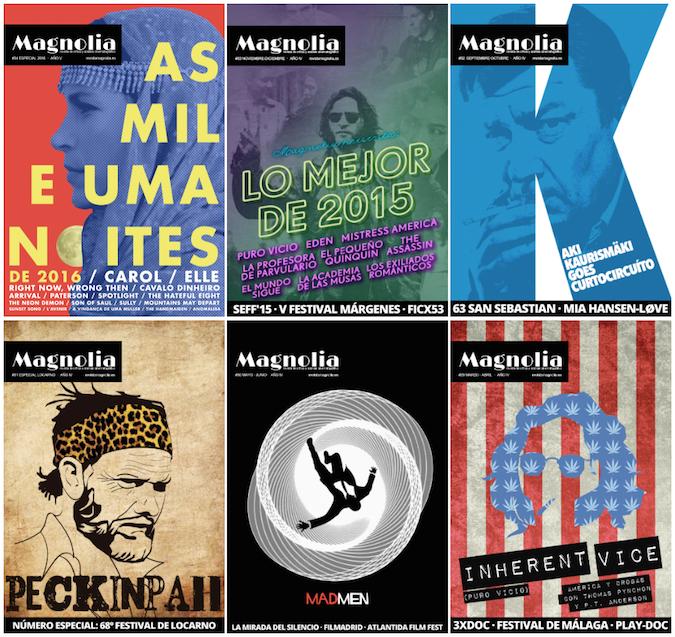 Los últimos seis números de Revista Magnolia
